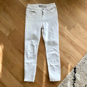 Zara white petite skinny jeans